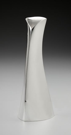 Contemporary hand crafted Sterling vase